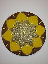 Magnetky - Magnetka Mandala z piesku ø8cm - 10700334_