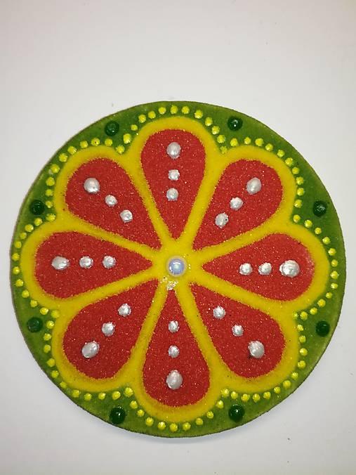 Magnetka Mandala z piesku ø8cm
