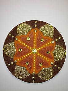 Magnetky - Magnetka Mandala z piesku ø8cm - 10700213_
