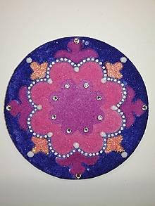 Magnetky - Magnetka Mandala z piesku ø8cm - 10700233_