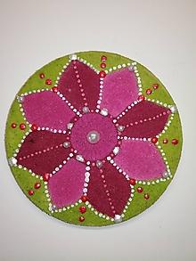 Magnetky - Magnetka - Mandala z piesku 8cm - 10700255_