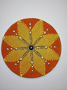Magnetky - Magnetka Mandala z piesku ø8cm - 10700316_