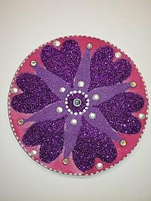 Magnetky - Magnetka Mandala z piesku ø8cm - 10700332_