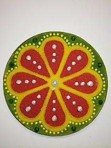 Magnetky - Magnetka Mandala z piesku ø8cm - 10700335_