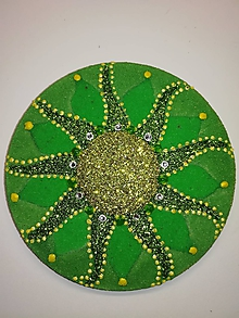 Magnetky - Magnetka Mandala z piesku ø8cm - 10700349_
