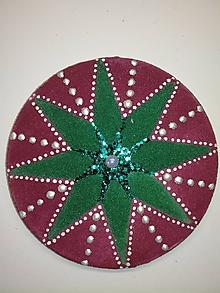 Magnetky - Magnetka Mandala z piesku ø8cm - 10700352_
