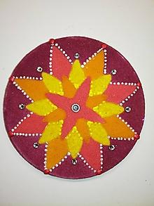 Magnetky - Magnetka Mandala z piesku ø8cm - 10700356_