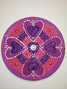 Magnetky - Magnetka Mandala z piesku ø8cm - 10700368_