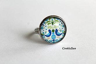 Prstene - Folk Blue Birds - 10701661_