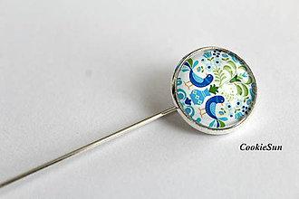 Odznaky/Brošne - Folk Blue Birds - 10701662_
