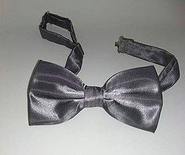 Doplnky - Panský sivý-šedý motýlik - 10701843_