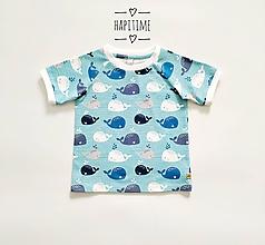 Detské oblečenie - Bio tričko s rybyčkami - 10700914_