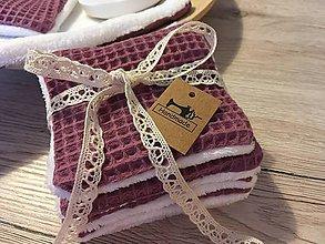 Úžitkový textil - Odličovacie vankúšiky - pampúšiky farba MAUVE - 10701380_