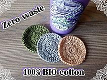 Úžitkový textil - 100% BIO bavlna - Háčkované odličovacie tampóny - 10700338_