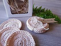 Úžitkový textil - 100% BIO bavlna - Háčkované odličovacie tampóny - 10700432_