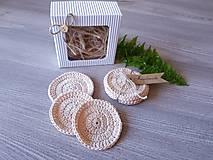 Úžitkový textil - 100% BIO bavlna - Háčkované odličovacie tampóny - 10700433_
