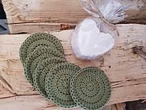 Úžitkový textil - 100% BIO bavlna - Háčkované odličovacie tampóny - 10700439_