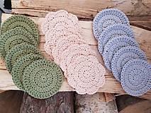 Úžitkový textil - 100% BIO bavlna - Háčkované odličovacie tampóny - 10700447_