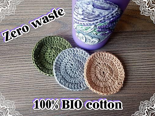 100% BIO bavlna - Háčkované odličovacie tampóny