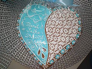 Dekorácie - Srdce na svadbu medovníkové - 10699149_