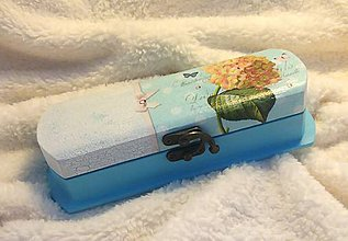 Drobnosti - Drevená krabička/peračník/púzdro Hortenzia s citátom - 10699411_