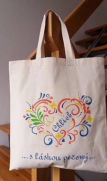 Veľké tašky - Taška na chlebík (Folklórne srdce) - 10699979_