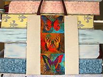 Nákupné tašky - Taška pro sběratelku motýlů - 10699544_