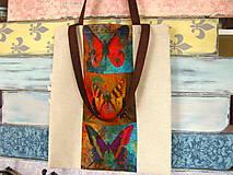 Nákupné tašky - Taška pro sběratelku motýlů - 10699545_