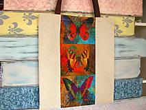 Nákupné tašky - Taška pro sběratelku motýlů - 10699546_