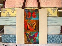 Nákupné tašky - Taška pro sběratelku motýlů - 10699547_