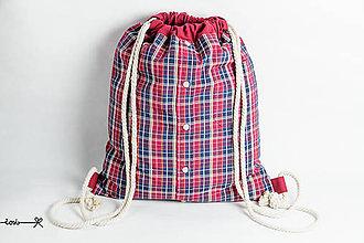 Batohy - Vak Košelák - červeno-modrý - 10699882_