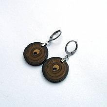 Náušnice - Drevené náušnice visiace - budlejové krúžky - 10701569_