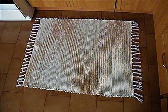 Úžitkový textil - Tkaný koberec béžovo-hnedý melírovaný - 10700662_