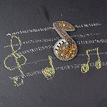 Odznaky/Brošne - Nota ... brož - 10702368_