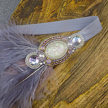 Ozdoby do vlasov - Great Gatsby Maria ... čelenka - 10702377_