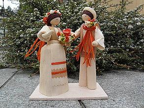 Dekorácie - Šúpolienky svadobný pár 2 - 10703652_