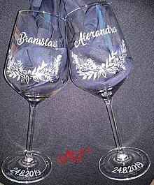 Nádoby - Svadobné poháre - 10705069_