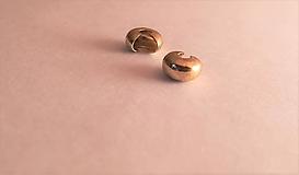 Ozdobná krytka za zamačkavaci rokajl 5x3mm (7x5mm - Zlatá)