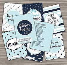 Papiernictvo - Míľnikové kartičky pre chlapčeka v modrom - 10705402_