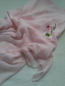 Sukne - Pudrová (jemná sukňa s ručnou výšivkou) - 10704747_