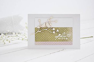 Papiernictvo - Svadobný pozdrav - zaľúbené vtáčiky II - 10704214_