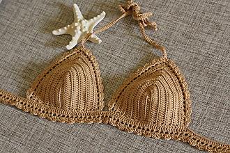 Bielizeň/Plavky - Háčkované plavky - 10703724_