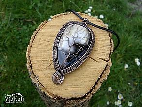 Náhrdelníky - Strom života - ónyx-achát, wire wrapping - 10705558_