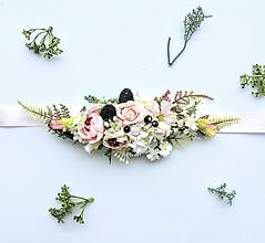 Opasky - Kvetinový opasok s černicami - 10703417_