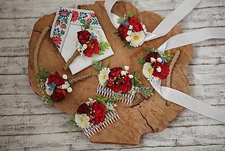 Náramky - Folk kvetinový náramok pre družičky - 10705518_