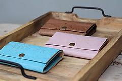 Peňaženky - Korková peňaženka M tyrkysová - 10704471_