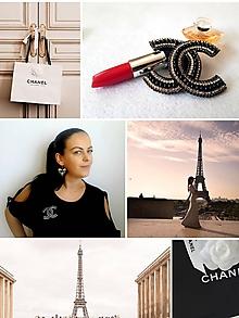 Odznaky/Brošne - Luxusná brošňa ako od ,,Coco Chanel