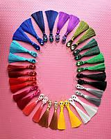 Náušnice - Farebné náušnice so strapcom - soutache earring (Fialová) - 10704112_