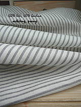 Textil - FARMHOUSE grey stripes....len šíře 260cm - 10703378_