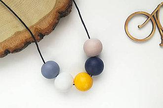 Náhrdelníky - Maľovaný náhrdelník - 10705082_